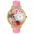 Tea Roses Watch in Gold or Silver Unisex G 1210011