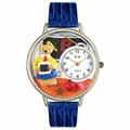Teacher Teddy Bear Watch in Silver Unisex U 0230007