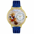 Teddy Bear Hugs Watch in Gold or Silver Unisex G 0230002