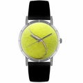 Tennis Lover Print Watch Classic Silver Style R 0840011