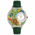 Tropical Fish Watch in Silver Unisex U 0140007