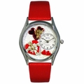 Valentines Day Watch  Red  Classic Silver Style S 1226001