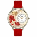 Valentines Day Watch  Red  in Silver Unisex U 1220033