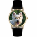 Westie Print Watch in Gold Classic P 0130073