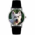 Westie Print Watch in Silver Classic R 0130073