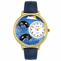 Whales Watch in Gold or Silver Unisex G 0140005