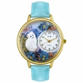 White Cat Watch in Gold or Silver Unisex G 0120014