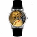Yellow Labrador Retriever Print Watch in Silver Classic R 0130081
