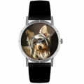Yorkie Print Watch in Silver Classic R 0130077