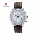 Men's Swiss Chronograph Watch Leather