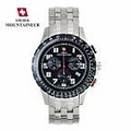 Men's Swiss Mountaineer Watch Chronograph Black Dial