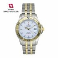 Mens Luxury Swiss Mountaineer Watch Two Tone Bracelet