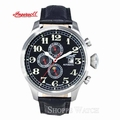 Ingersoll IN1616BK Bufallo III Mens Black Automatic Leather Watch