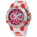 Invicta 0943 Subaqua Chronograph White Rubber Strap Watch