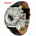 Ingersoll IN2806WH Black and Red Automatic Leather Watch