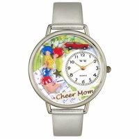 Cheer Mom Watch in Silver Unisex U 1010007