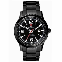 Swiss Mountaineer SM1472 Mens Black Bracelet Watch