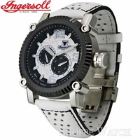 Ingersoll IN6905SBK Bison No. 13 Mens Automatic White Leather Watch