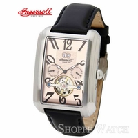 Ingersoll IN8202SRG Laramie Mens Black Leather Strap Watch