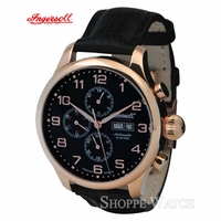 Ingersoll IN3900RBK Apache Mens Black Automatic Leather Watch