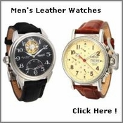 Mens Leather Watches
