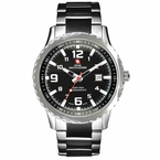 Swiss Mountaineer SM1471 Mens Two Tone Black Bracelet Watch