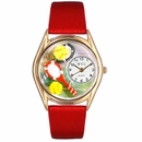Tennis Rackets Watch Classic Gold Style C 0810003
