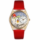Christmas Snowman Watch Classic Gold Style C 1220004
