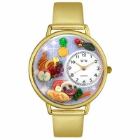 Holiday Feast Watch in Gold or Silver Unisex G 1220037