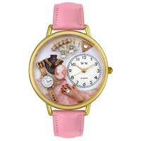 Jewelry Lover Pink Watch in Gold or Silver Unisex G 0910014