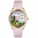 Charitable Fundraiser Time for the Cure Classic Gold Whimsical Watch C 1110002