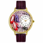 Shoe Shopper Watch in Gold or Silver Unisex G 1010005
