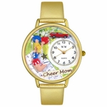 Cheer Mom Watch in Gold or Silver Unisex G 1010007