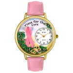 Charitable Fundraiser Time for the Cure Watch in Gold or Silver Unisex G 1110001