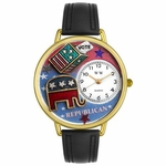 Republican Watch in Gold or Silver Unisex G 1110003