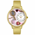 Makeup Watch in Gold or Silver Unisex G 1610007