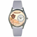 Jewelry Lover Blue Pearls Watch Classic Silver Style S 0910020