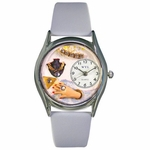 Jewelry Lover Blue Watch Classic Silver Style S 1010008
