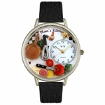 Moms Kitchen Watch in Silver Unisex U 1010004