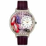 Shoe Shopper Watch in Silver Unisex U 1010005