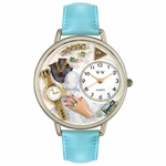 Jewelry Lover Blue Watch in Silver Unisex U 1010010