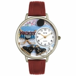 Hockey Mom Watch in Gold or Silver Unisex U 1010020