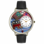 Republican Watch in Gold or Silver Unisex U 1110003