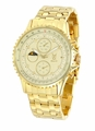 Konigswerk SQ201446G Mens Gold Bracelet Watch