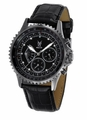 Konigswerk SQ201457G Mens Black Leather Watch