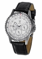 Konigswerk SQ201461G Mens Black Leather Watch