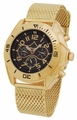 Sarastro AA100693G Mens Gold Bracelet Watch
