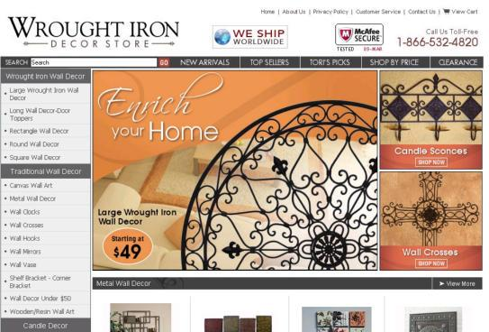 Wrought Iron Décor Store