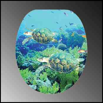 Toilet Seats Sea Turtles Nautical Toilet Seat