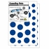 Game Day Dot Magnets - Blue & White